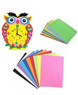 Bluelans 10 Sheets Multicolor A4 Sponge EVA Foam Paper Kids