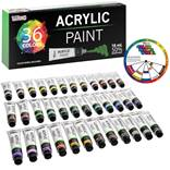 US Art Supply Professional 36 Color Set of Acrylic Paint in Large 18ml Tubes